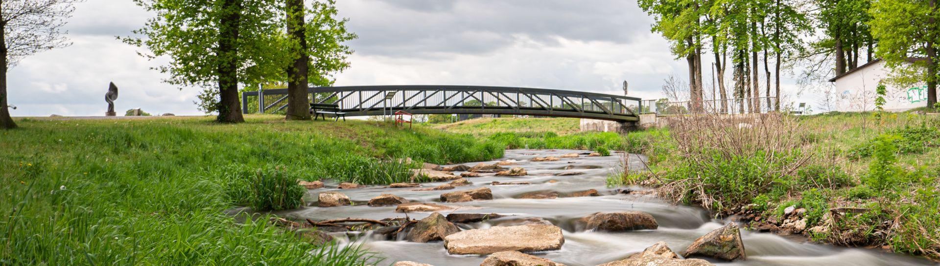 Blick auf die Brücke über die Sohlegleite in Quakenbrueck